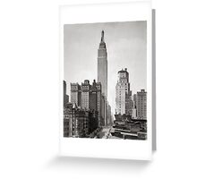 Empire State & Midtown Manhattan, 1931 Greeting Card