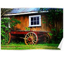 Pioneer Wagon Poster