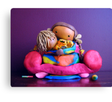 CHUNKIE Mother and Girl Child Canvas Print