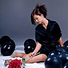 Teenage Fashion Girl and Balloons by Bobby Deal