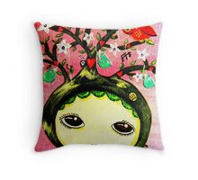 She Grows A Tree Throw Pillow