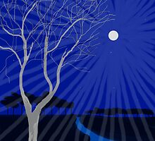 Tree in Moonlight by katpix