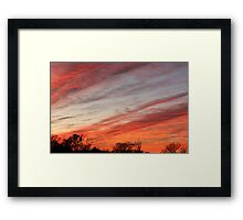 Afternoon Colors Framed Print