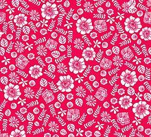 Butterfly Garden Florals - Pink by Andrea Lauren