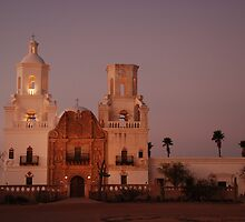 As Night Falls on the Mission by Barbara Manis