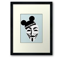 Anonymouse. Framed Print