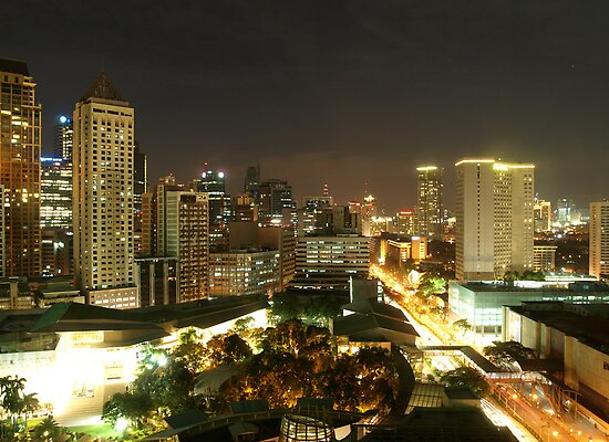 Makati City (Manila) at Night by NeilAlderney