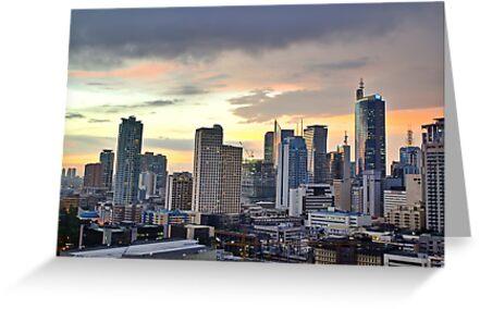 Sunset Over Makati City (Manila) by NeilAlderney