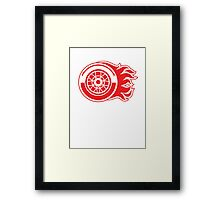 Detroit Flames - Calgary Red Wings Framed Print