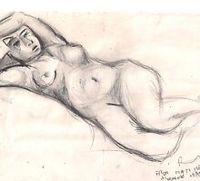 FROM MATISSE, YELLOW ODALISQUE(C1994) by Paul Romanowski