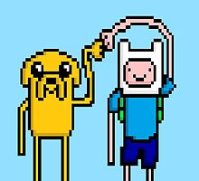pixel fistbump Finn and Jake by vandeman