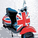 Vespa Scooter - Mod Decoration, Pop Art Print by ArtPrints