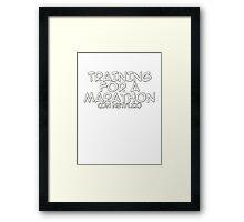 Training for a marathon (on netflix) Framed Print