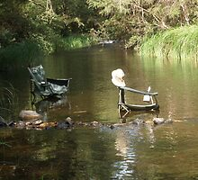 Soooo HOT even the chairs needed a drink :) by Anthea  Slade