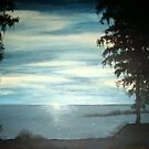 Camping by the lake ~ Original in Oil by sweetscent62