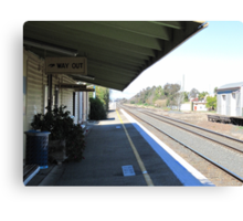 Once Upon a Time!, Old Rail Station, 'Henty', Country Town.  Canvas Print