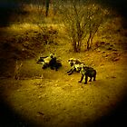 Baby Hyenas by Melissa Ramirez