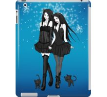 """Courtney and Laura: two cat girls"" iPad Case/Skin"