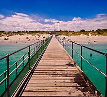 Coogee Beach jetty by Claire  Farley