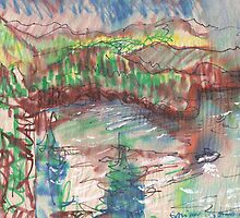 GALIANO ISLAND BC(C2011)(COLOR STUDY) by Paul Romanowski