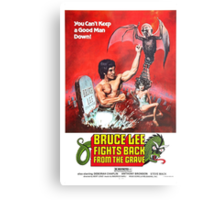 Bruce Lee fights back from the Grave Metal Print