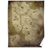 Fantasy Map of New York City: Dirty Parchment Poster