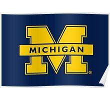 University of Michigan w/ the Block M Poster