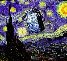 The Tardis in the Starry Night by KAMonkey
