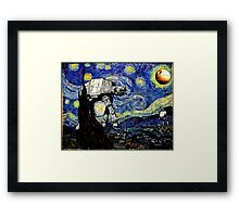Starry Night versus the Empire Framed Print