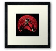 Neon Genesis Evangelion Unit 01 - Hill Top Framed Print