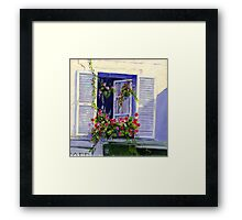 Parisian Window Framed Print