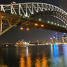 Sydney Harbour by Night by snowjay