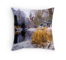 Batford Springs in Winter Throw Pillow