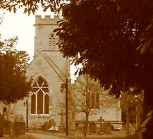 Sepia Church in England - Gloucestershire by karenuk1969