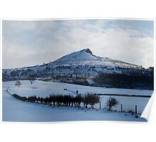 Roseberry Topping in the snow Poster