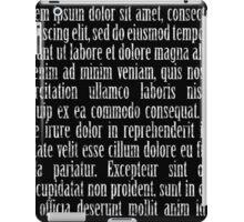 Lorem ipsum reversed iPad Case/Skin