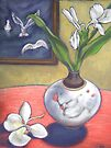 seagulls & ginger flowers by maria paterson