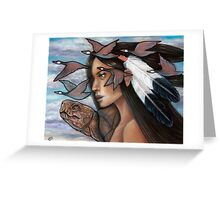 Sky Woman Iroquois Mother Goddess Greeting Card