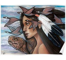 Sky Woman Iroquois Mother Goddess Poster