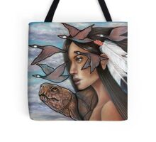 Sky Woman Iroquois Mother Goddess Tote Bag