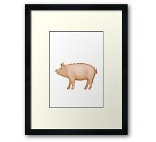 Pig Apple / WhatsApp Emoji Framed Print