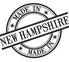 Made In New Hampshire Stamp Style Logo Black by surgedesigns