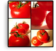 Tomato Collage Canvas Print