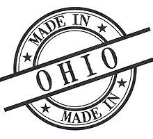 Made In Ohio Stamp Style Logo Symbol Black by surgedesigns