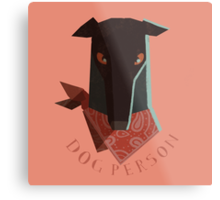 dog person Metal Print