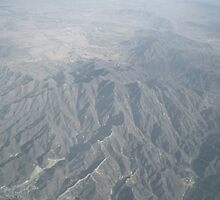 Chinese Wall from the plane by TheGlobetrotter