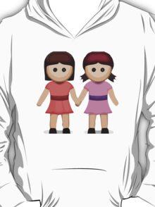 Two Women Holding Hands Apple / WhatsApp Emoji T-Shirt
