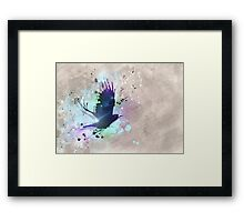 Abstraction raven Framed Print