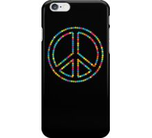 Colored Circles Peace Sign Symbol iPhone Case/Skin