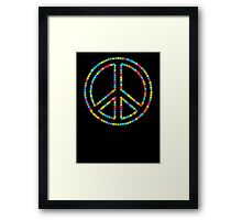 Colored Circles Peace Sign Symbol Framed Print
